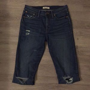 """Madewell 9"""" High Riser Skinny Distressed Jeans"""